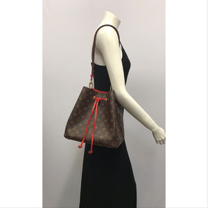 LOUIS VUITTON Neonoe Monoram Red Coquelicot Bag
